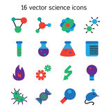 Science set icons Royalty Free Stock Photography