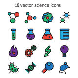 Science set icons Royalty Free Stock Images