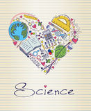 Science in shape of heart Royalty Free Stock Photo