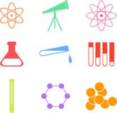 Science shapes Royalty Free Stock Photos