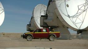 ALMA astronomy site at San Pedro de Atacama, Antofagasta Region / Chile. Science site ALMA, radio astronomy dishes on the Chajnantor stock video footage