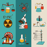 Science sketch banners Royalty Free Stock Image