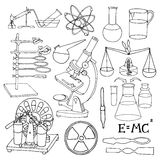 Science sketch icons Stock Photo
