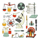 Science sketch icons Stock Photos