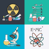 Science sketch icons Royalty Free Stock Photography