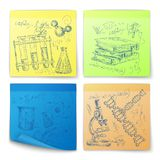 Science sketch stickers Stock Images