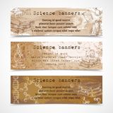 Science sketch vintage banners Royalty Free Stock Photos