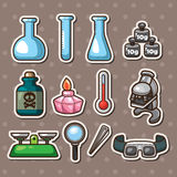 Science stickers Royalty Free Stock Photography