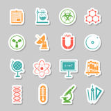 Science stickers  icons set Royalty Free Stock Photography