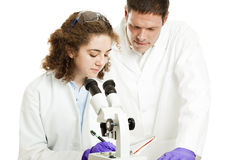 Science Student & Teacher Royalty Free Stock Photo