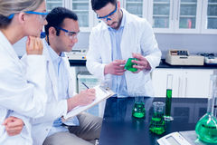 Science students working together in the lab Royalty Free Stock Photos