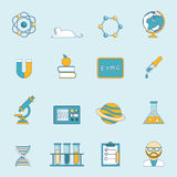 Science And Study Icon Set Royalty Free Stock Images