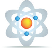 Science symbol. For discovery and planets gravity and oull vector illustration