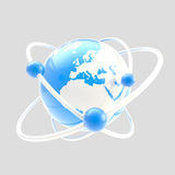 Science symbol as atom sign isolated Royalty Free Stock Photo