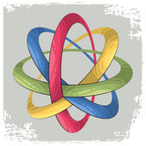 Science symbol as four rings Stock Photo