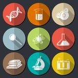 Science Symbols Flat Royalty Free Stock Photos