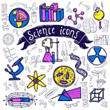 Science symbols icons doodle sketch Stock Photo