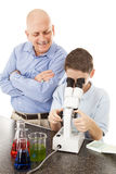 Science Teacher and Student Royalty Free Stock Images