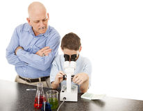 Science Teacher with Student Royalty Free Stock Photo