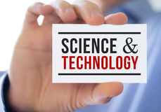 Science and technology. Businesscard concept Royalty Free Stock Images