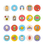 Science and Technology Colored Vector Icons 3 Royalty Free Stock Photography