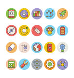 Science and Technology Colored Vector Icons 2 Stock Image