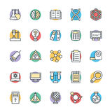 Science and Technology Cool Vector Icons 3 Royalty Free Stock Images