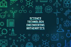 Free Science, Technology, Engineering And Math Colored Frame Royalty Free Stock Photo - 149869655
