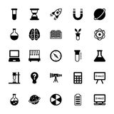 Science and Technology Glyph Vector Icons 1 Royalty Free Stock Photos
