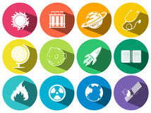 Science and technology icons Royalty Free Stock Photography
