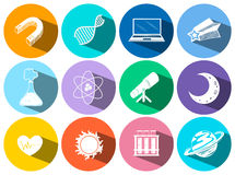 Science and technology icons Royalty Free Stock Image
