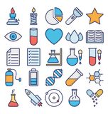Science and Technology Isolated Vector icons set that can be easily modified or edit stock illustration