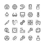 Science and Technology Line Vector Icons 3 Stock Image