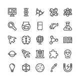 Science and Technology Line Vector Icons 4 Royalty Free Stock Image