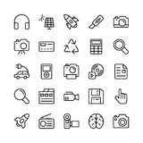 Science and Technology Line Vector Icons 1. Decorate your science projects, articles, publications, presentations, books, blog or web with this Science and Royalty Free Stock Photos