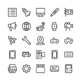 Science and Technology Line Vector Icons 2 Stock Image