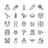 Science and Technology Line Vector Icons 6 Royalty Free Stock Images