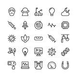Science and Technology Line Vector Icons 7 Stock Images