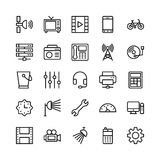 Science and Technology Line Vector Icons 10 Stock Photography