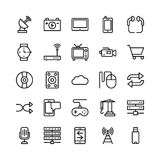 Science and Technology Line Vector Icons 11 Royalty Free Stock Image