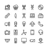 Science and Technology Line Vector Icons 12 Stock Photos