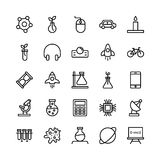Science and Technology Line Vector Icons 15 Stock Photos