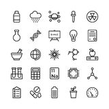 Science and Technology Line Vector Icons 18 Stock Photo