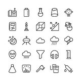 Science and Technology Line Vector Icons 17 Royalty Free Stock Photography