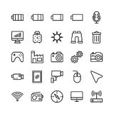 Science and Technology Line Vector Icons 13 Stock Images