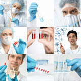 Science and technology, set of matching pictures Royalty Free Stock Image