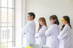 Science Test. Chemist scientific testing quality. Team Scientist royalty free stock image