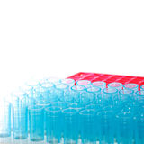 Science test pipette tips Stock Photo