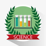 Science test tube school supplies Stock Photo