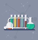 Science test tubes Royalty Free Stock Photography